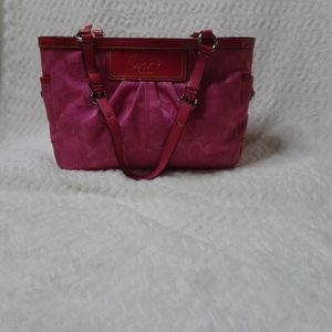 Coach Ashley pleated tote